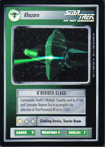 STAR TREK CCG REFLECTIONS VERY RARE KHAZARA - <span itemprop=availableAtOrFrom>Margate, United Kingdom</span> - We operate the ebay standard 14 day returns policy Most purchases from business sellers are protected by the Consumer Contract Regulations 2013 which give you the right to cancel the purc - Margate, United Kingdom