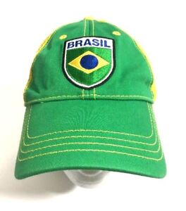43b12e7b03b H M Brazil Flag Colors Country Green Yellow Hat Cap Brazilian Mesh ...