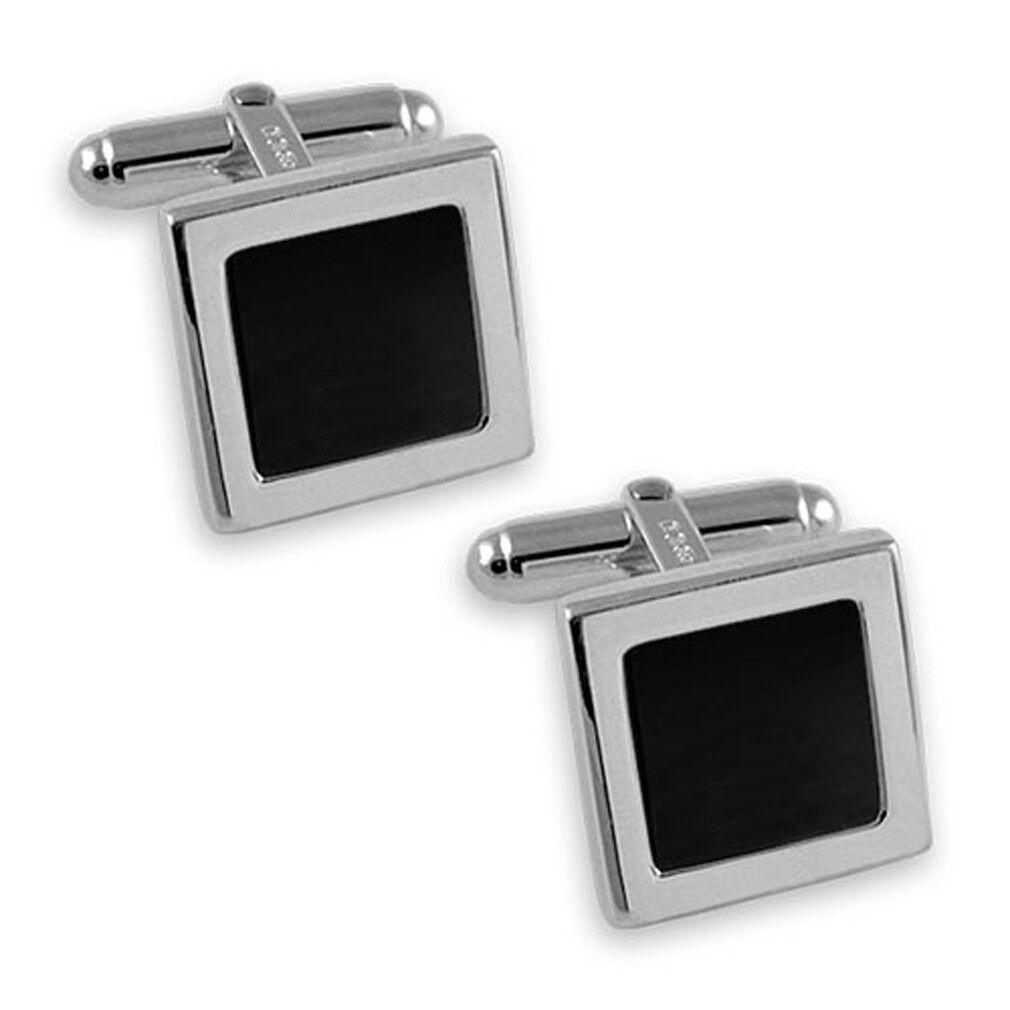 argentoo argentoo argentoo Sterling Onice Quadrato Gemelli Fermacravatta Box Set 8eef7d