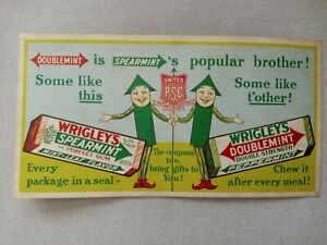 Vintage WRIGLEY'S CHEWING GUM Cardboard Advertising Poster, (RARE)