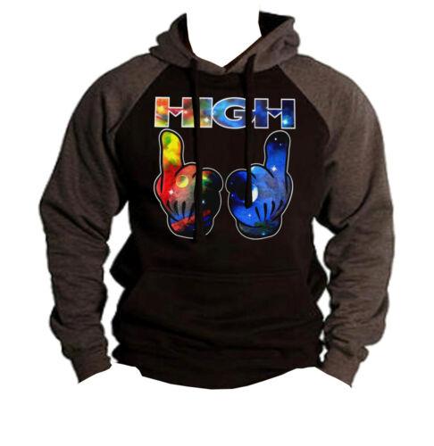 New Galaxy High Black Raglan Hoodie kush blunt weed smoke dope swag party rave