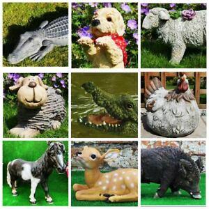 Détails sur Résine Animal Sauvage Décoration De Jardin Pelouse Patio  Sculpture Crocodile Tortue Oiseaux- afficher le titre d\'origine