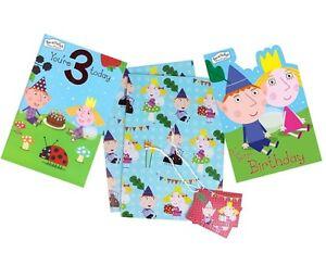 BEN-amp-HOLLY-Carte-D-039-anniversaire-carte-Fete-Carte-De-V-ux-age-1-2-3-Emballage