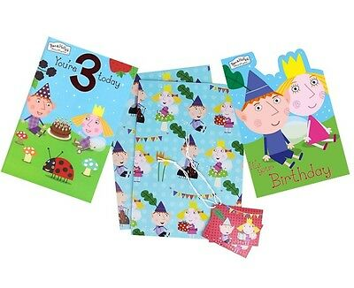Ben & Holly Compleanno Di Carte-card/feste/greetings Cards/age/1/2/3/regalo Wrap-etings Cards/age/1/2/3/gift Wrap It-it Merci Di Alta Qualità