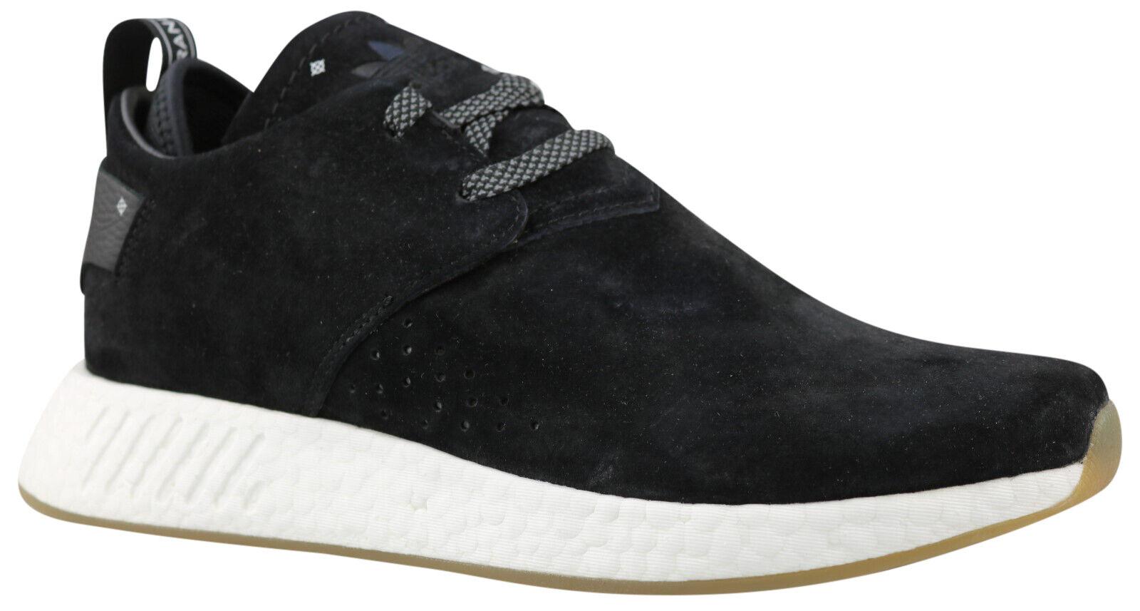 Adidas NMD C2 Herren Turnschuhe Turnschuhe schwarz Leder BY3011 Gr. 36,5 - 43 NEU