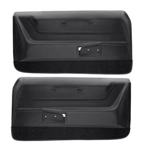 1968-1969-Camaro-Deluxe-Molded-Interior-Black-Door-Panel-Set-OER-USA-Made