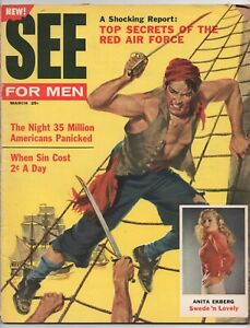 SEE FOR MEN  MARCH 1957  LITERARY ENTERPRISES  MEN'S ADVENTURE MAGAZINE