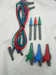 Fluke-Amprobe-TL165XA-Silicone-60-034-3-Wire-Test-Lead-Set-4mm-Push-Fit