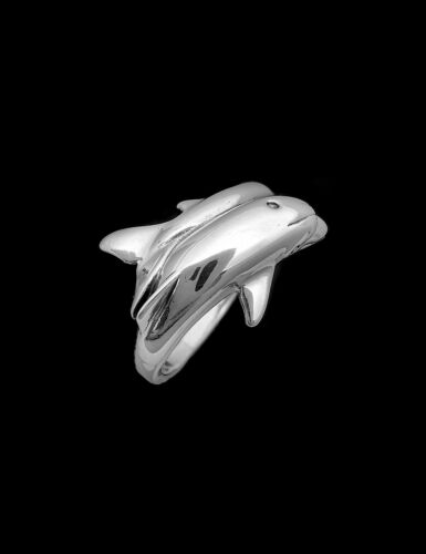 Ocean Ring 925 Sterling Silver Dolphin Ring Porpoise Ring Sea Ring