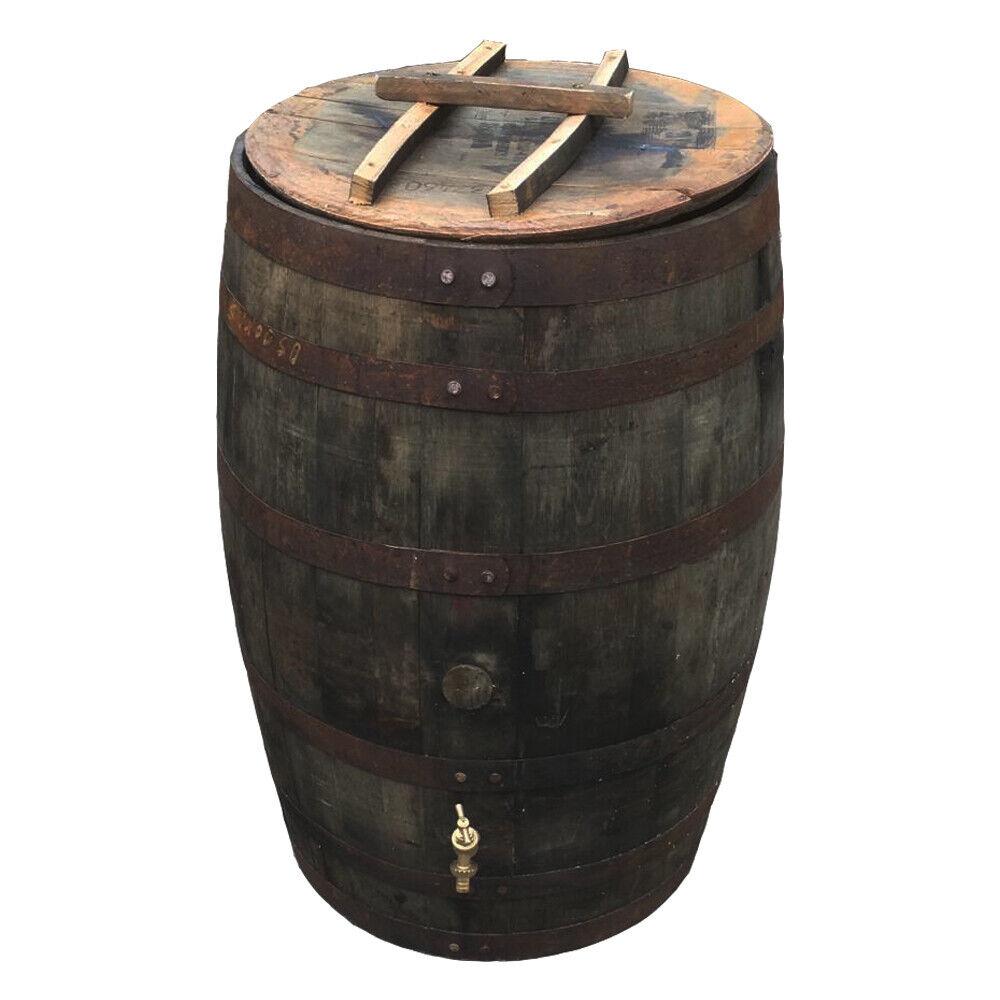 Roble Barrell Agua Culata Tanque 200 Litros con Latón Grifo Tapa para el Jardín