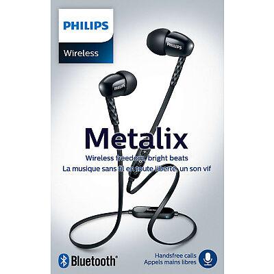 Philips SHB5850 BK Bluetooth-Kopfhörer Metalix kabellos Headset Mikrofon In-Ear