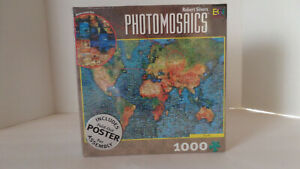 Photomosaics Earth 1000-Piece Jigsaw Puzzle With Fold-Out Poster - NEW/Sealed!!