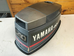 1990 40 hp yamaha 2 stroke outboard engine top cowl hood for Best 8 hp outboard motor