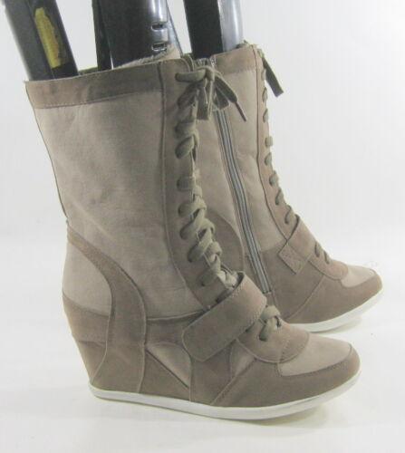 8 Bootslace Taupe Tacco Fino 9cm Taglia Sexy Con 10 Caviglia Nascosto Zeppa Alto gxqU6dwq