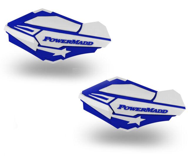 PowerMadd Sentinel Replacement ATV Handguards Hand Guards Blue White 34421