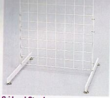 Store Display Fixtures 2 White Gridwire Panel Legs With Levelers T Shaped