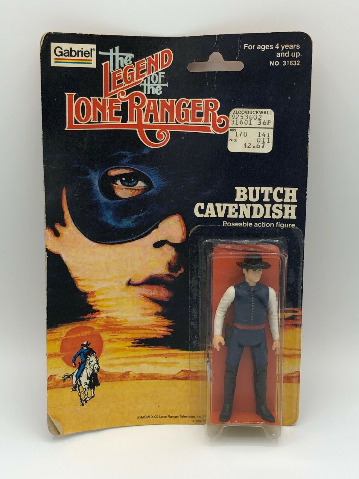 1980 gabriel die legende der lone ranger butch cavendish actionfigur neue