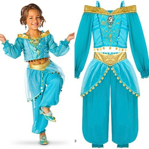 Disney Store Princess Jasmine Costume Dress Halloween Arabian Dress Up SIZES NEW