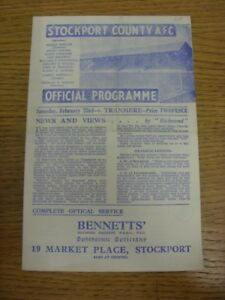 23-02-1946-Stockport-County-v-Tranmere-Rovers-Division-3-North-West-Cup-folde