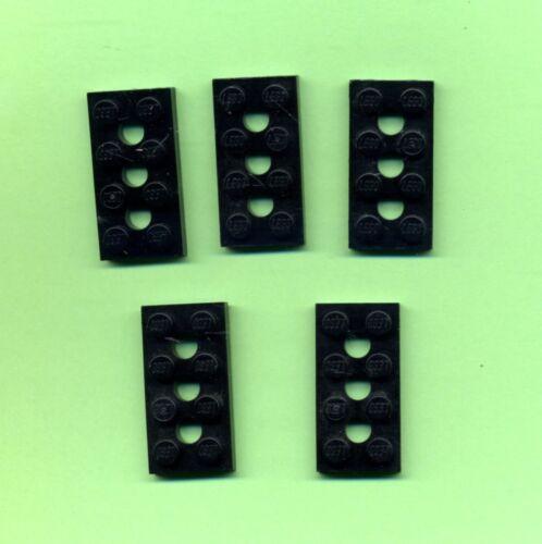 technology 3 Hole 5 Piece 2 x 4 3709b Lego Black