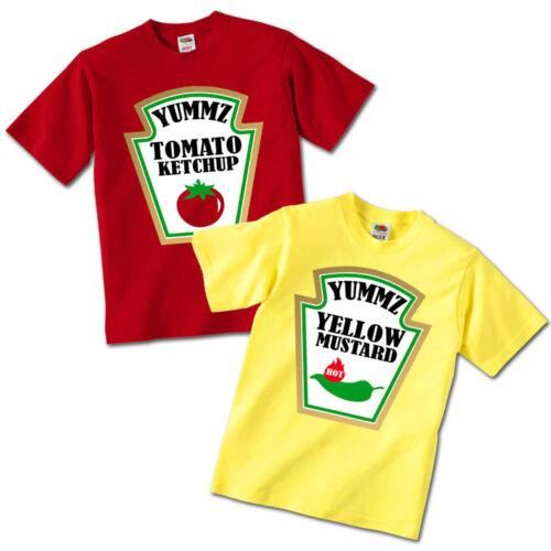 idea regalo fratellini e gemellini! T-shirt di coppia bimbi ketchup e mostarda