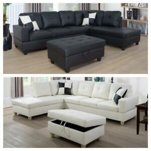 BELLA SECTIONAL COUCH WITH STORAGE OTTOMAN(OPTION TO PAY ON DELIVERY)FINANCING AVAILABLE AT 0% INTEREST WITH ZERO FEE Kitchener Area Preview