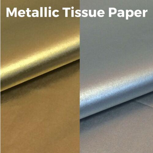 Metallic Tissue Paper High Quality /& Acid Free Gold /& Silver 500mm x 750mm