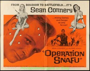 OPERATION-SNAFU-MOVIE-POSTER-Fld-Half-Sheet-22x28-JAMES-BOND-039-S-SEAN-CONNERY-1965