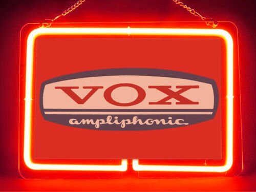Vox Ampliphonic Music DJ Hub Bar Shop Advertising Neon Sign