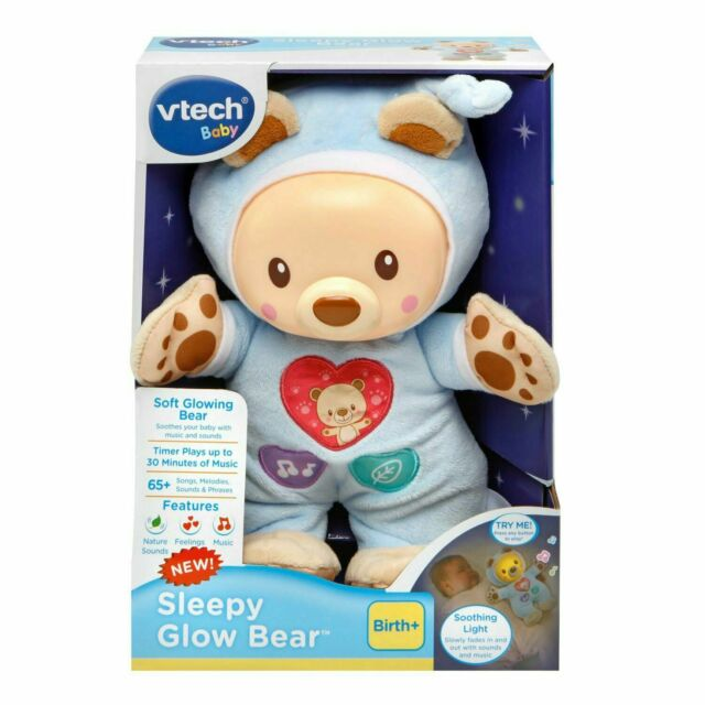 Kids Toys VTech Baby Sleepy Glow Bear Soothing Night Light Musical Relaxing