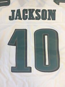 bb6e7aa9 Details about DESEAN JACKSON #10 PHILADELPHIA EAGLES WHITE REEBOK NFL  PREMIER JERSEY FREE SHIP