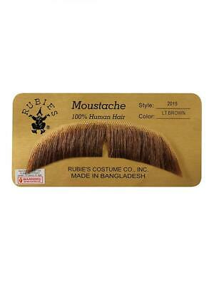 Apparel Rubie/'s BASIC CHARACTER MUSTACHE White One Size LIGHT BROWN