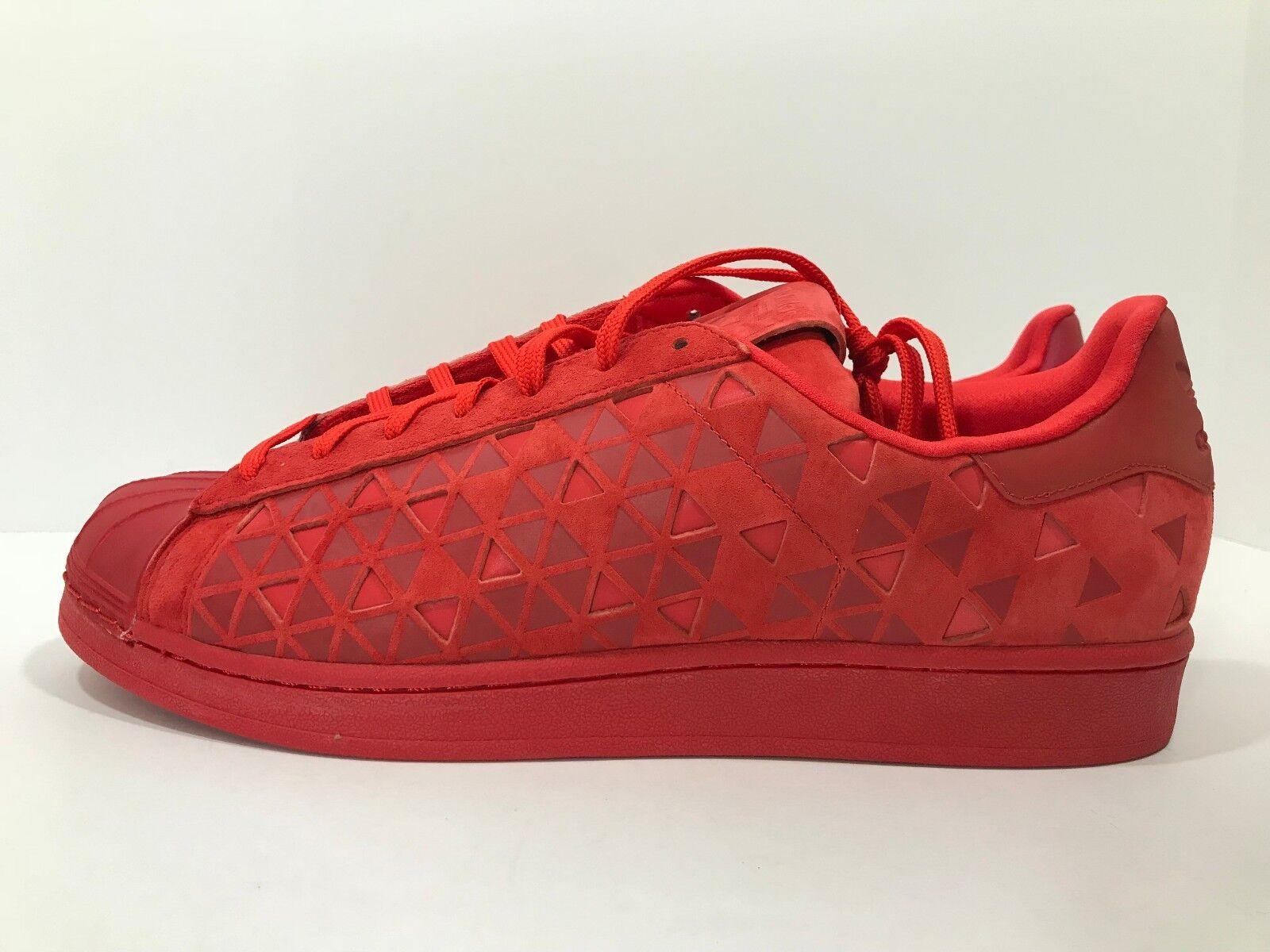 New Adidas Superstar XENO Men's Size 11.5 Vivid Mono Red Reflective AQ8181