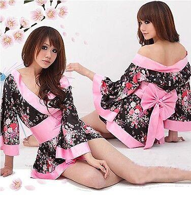 Sexy Japanese Kimono Night Dress Pyjamas Lingerie
