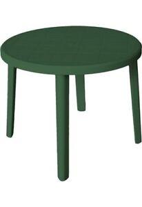 Tavoli Da Esterno In Plastica.Tavolo Da Giardino In Plastica Tavolino Esterno Tondo 90x72 H Verde