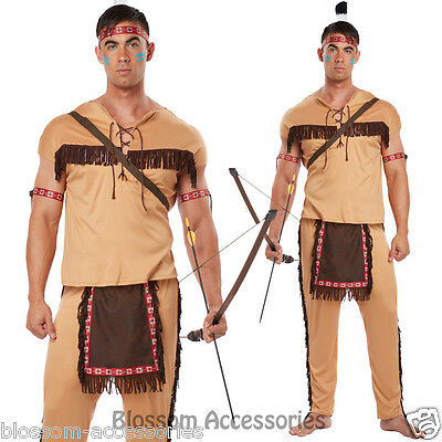CL240 Native American Brave Warrior Indian Halloween Fancy Dress Mens Costume
