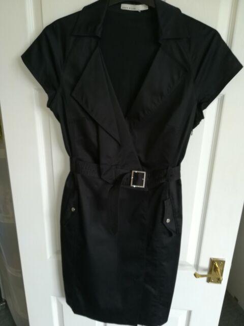 DESIGNER FABULOUS KAREN MILLEN BLACK PENCIL DRESS SIZE UK 14 ..NEW COND RRP £210