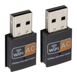 2x5G USB Dual Band Wireless Adapter 600Mbps Netzwerk Signal Wifi Empfänger