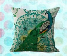 *US SELLER*pillow cases vintage peacock decorative pillow case cushion cover