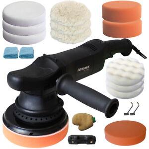 Vossner® Exzenter Poliermaschine Auto Poliergerät 1650-4800 H/min Politur Set 23