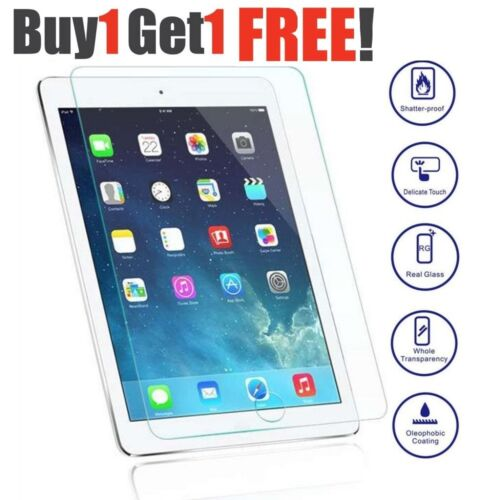 """2 Genuine Tempered Glass Screen Protector For Apple iPad 9.7/"""" 2017 Air Air 2"""