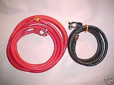 UNIVERSAL TRUNK MOUNT BATTERY CABLES 2 GAUGE NEW MADE IN THE USA