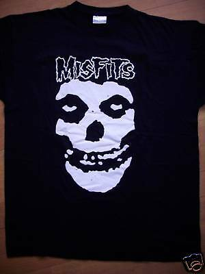 Authentic THE MISFITS DANZIG Skull Logo Distressed Black T-Shirt S-XXL NEW