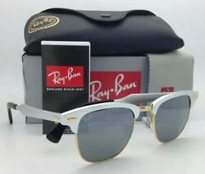 fd5215b6f2 Ray-Ban Sunglasses CLUBMASTER ALUMINUM RB 3507 137 40 51-21 Silver w ...