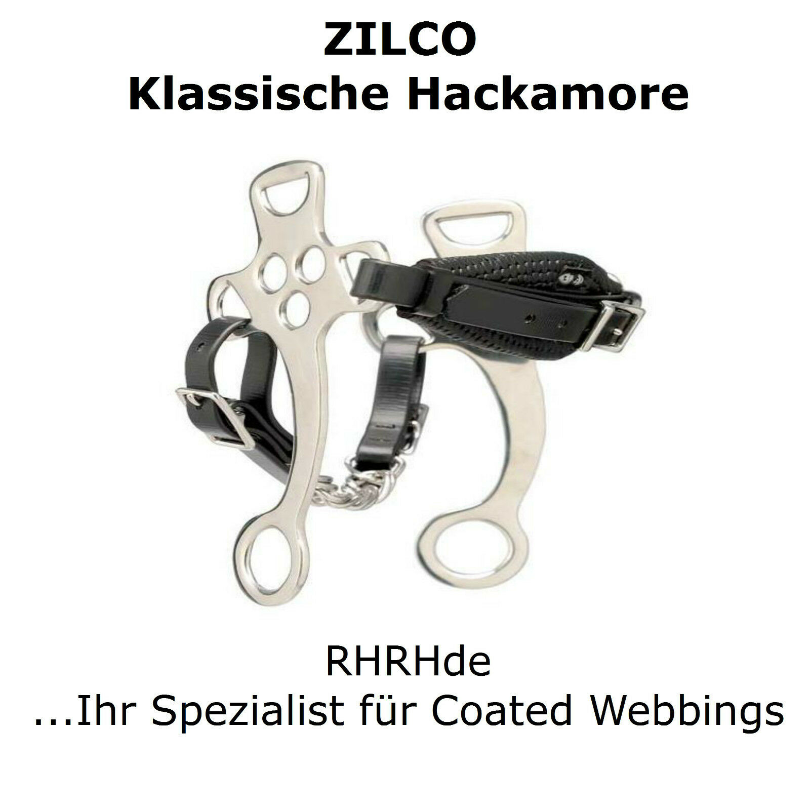 Clásica hackamore Zilco  Classico  biothane acero inoxidable gebisslos Bitless