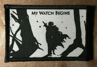 Game Of Thrones Jon Snow Night's Watch Morale Patch Tactical Military Army Badge