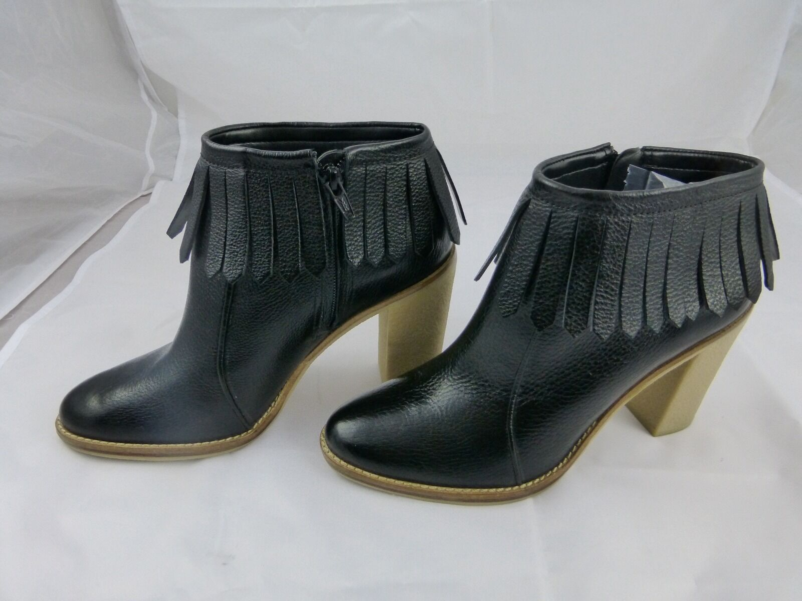 Antonio Melani, noir fashion ankle bottes new 9.5 leather