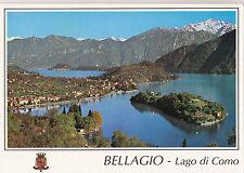 BF14584 centro lago di como con lo sfondo di bellagio italy front/back image