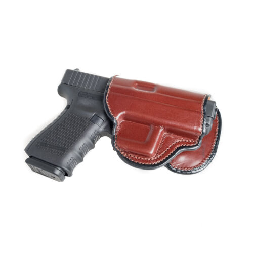 """OWB PADDLE ADJUSTABLE CANT. PADDLE LEATHER HOLSTER FOR SPRINGFIELD XD 5/"""" BARREL"""