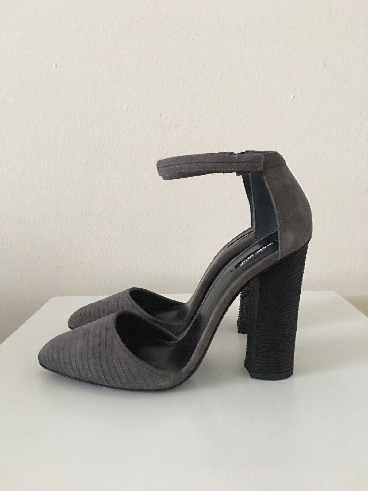 Giorgio Giorgio Giorgio Armani Nuevo Sin Caja  925 Para Mujer BOMBAS Tacones Zapatos gris Topo Gamuza gris Talla 39 EE. UU. 9  n ° 1 en línea